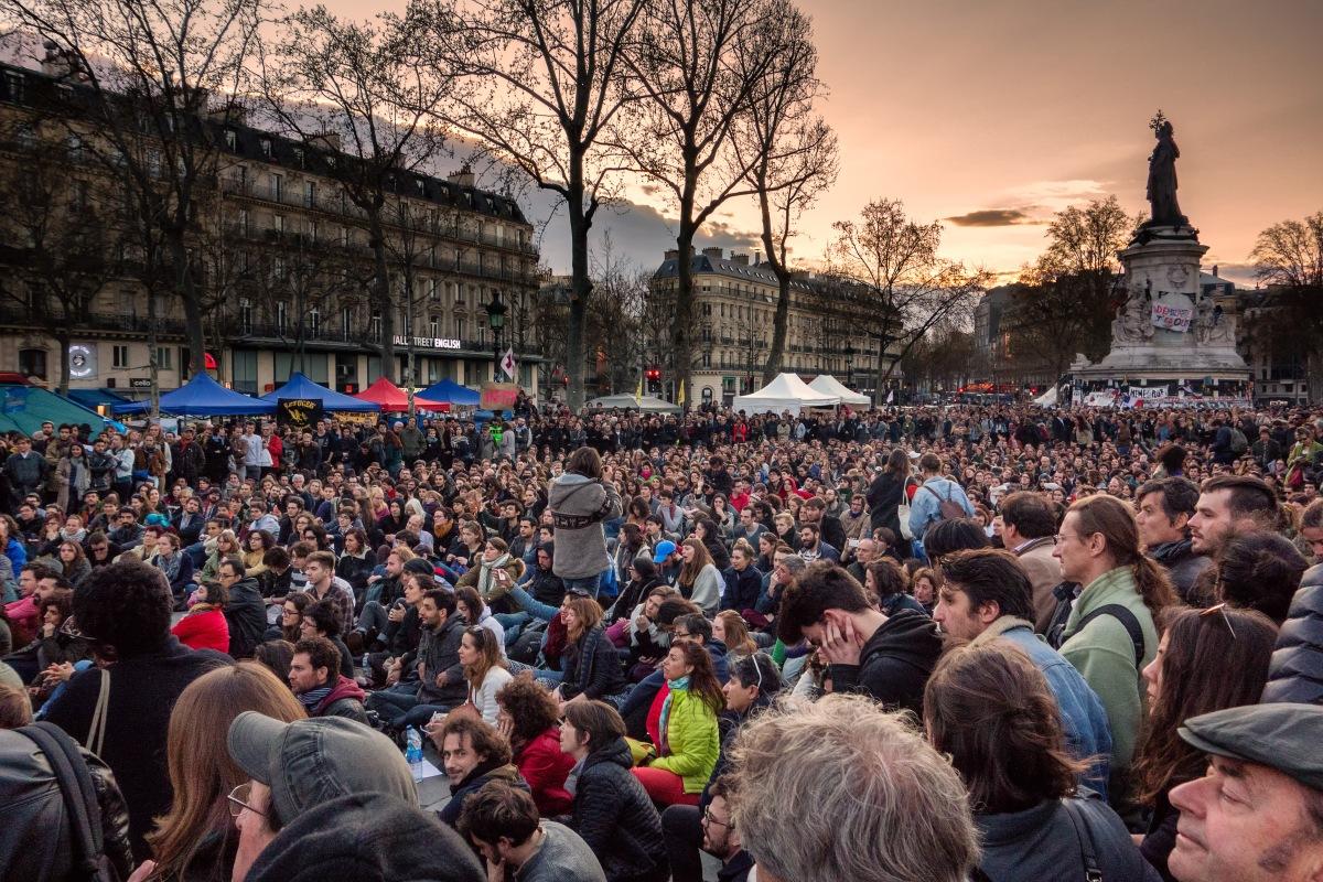 François nous a présenté les débats sur l'amélioration de Nuit Debout