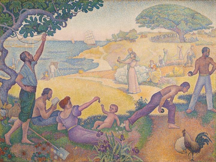 Paul_Signac,_1893-95,_Au_temps_d'harmonie,_oil_on_canvas,_310_x_410_cm