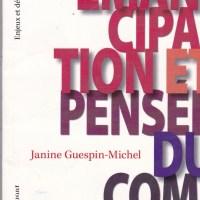 """Pierre a lu pour nous/vous : """"Emancipation et pensée du complexe"""" de Janine Gespin-Michel"""