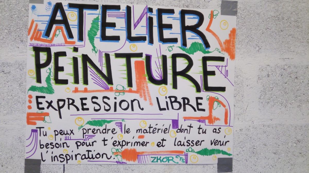 Atelier Peinture au festival Poussons les murs !