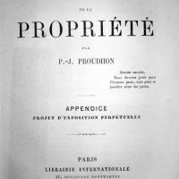 """Adèle a lu pour vous """"la théorie de la propriété"""" de Proudhon"""